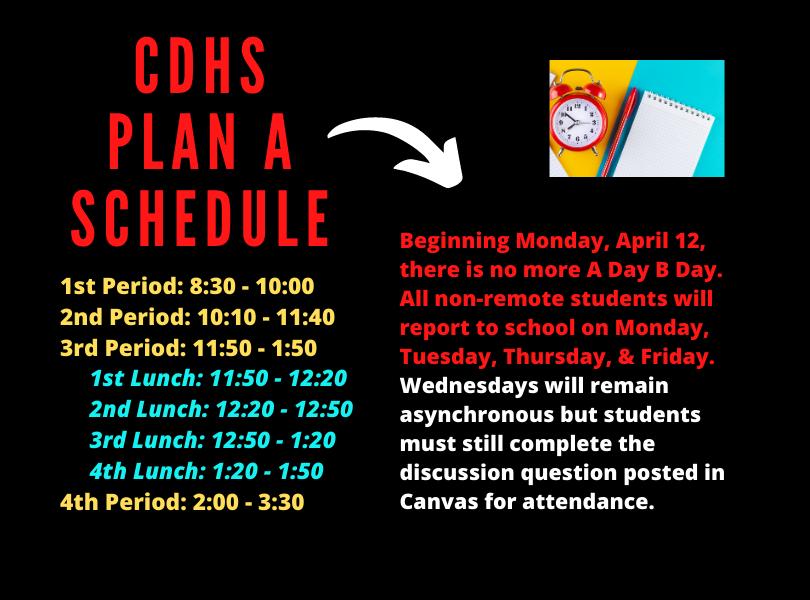 CDHS Plan A Schedule