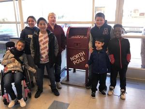 life skills students deliver letters to santa
