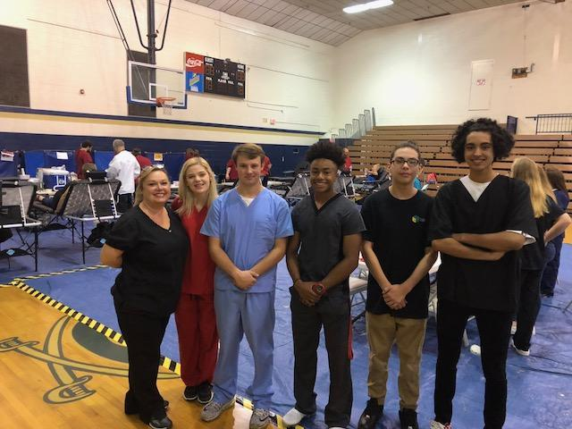 Students supporting Blood Drive