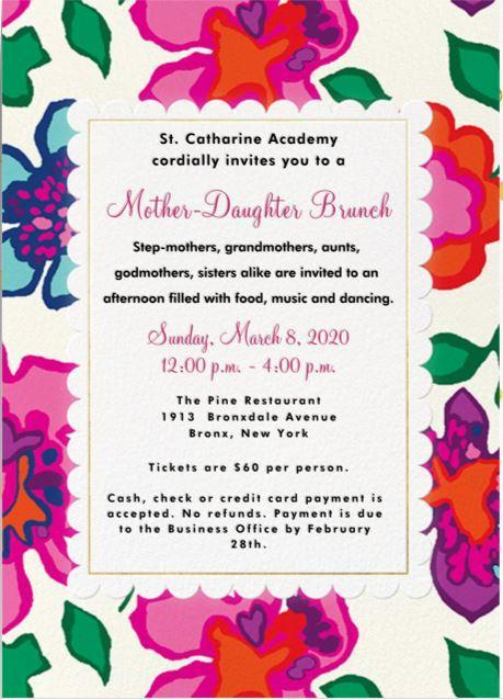 mother daughter brunch invite