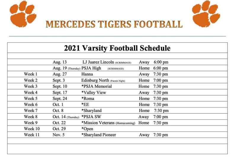 2021 Tiger Varsity Football Schedule NOW AVAILABLE Featured Photo