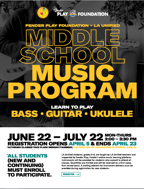 Fender Summer 2021 Music Program