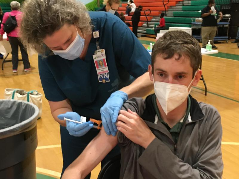 Mr. Shaun Downs Receives His Vaccination