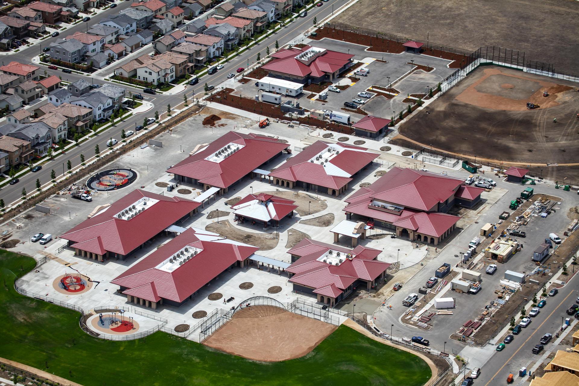 Cordes Elementary School Aerial April 2020