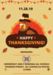Thanksgiving schedule poster
