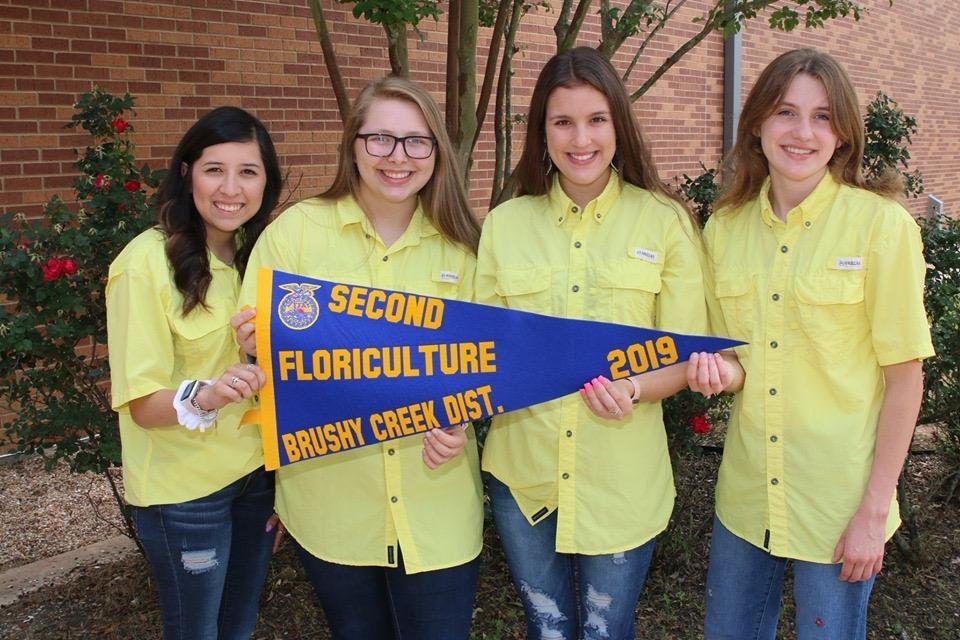 Floriculture Team places 2nd in District Competition and 12th at Area.