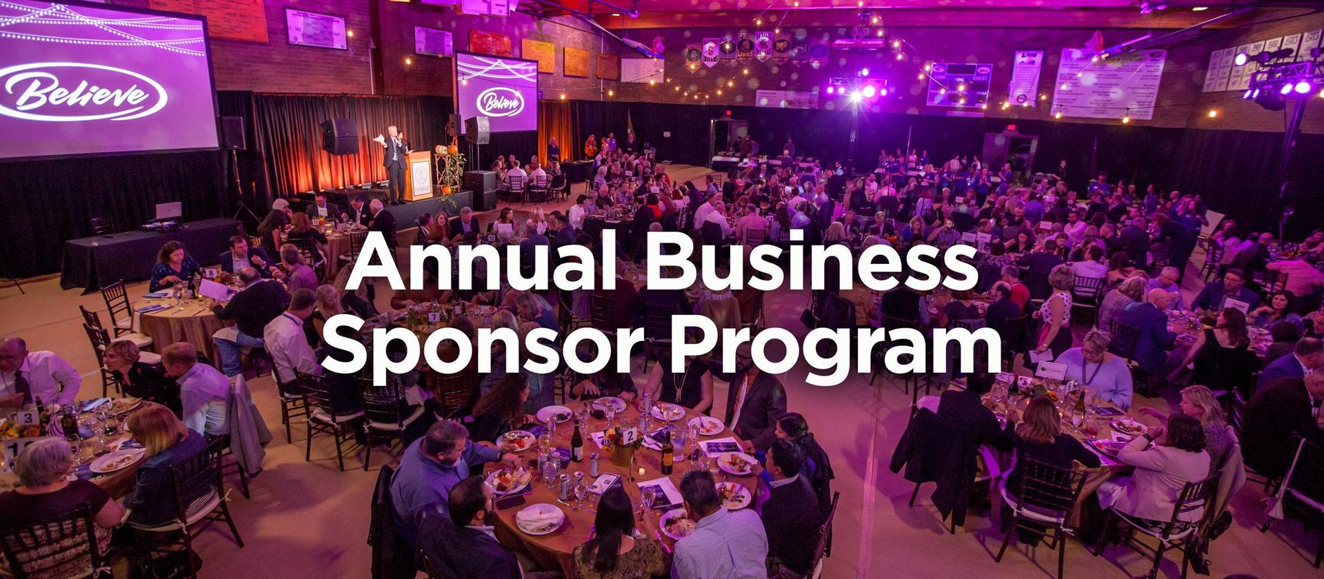 annual business sponsor program header image of Believe