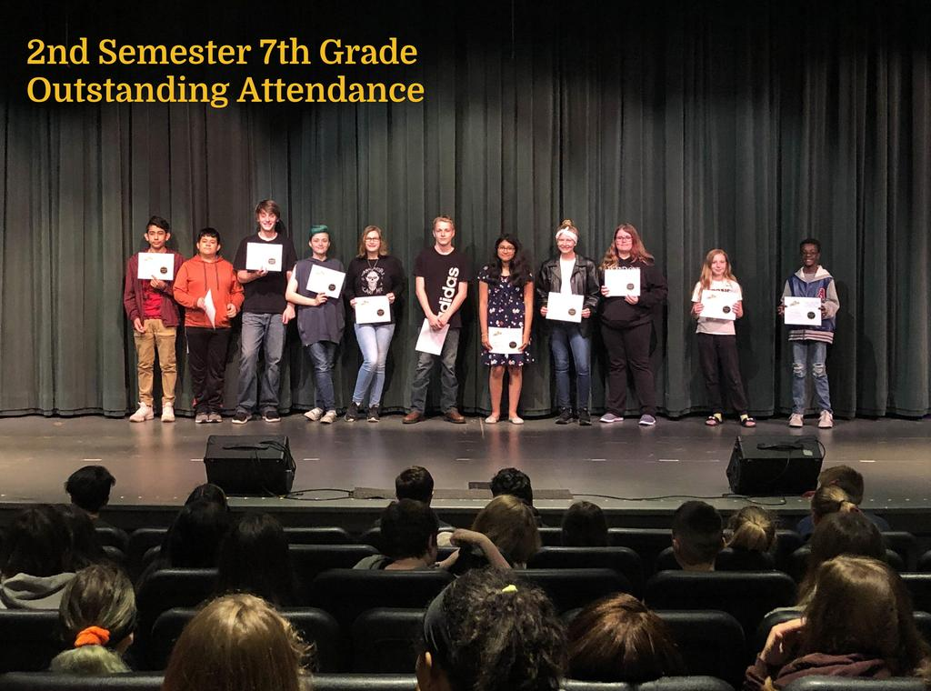 S2 7th Grade Outstanding Attendance