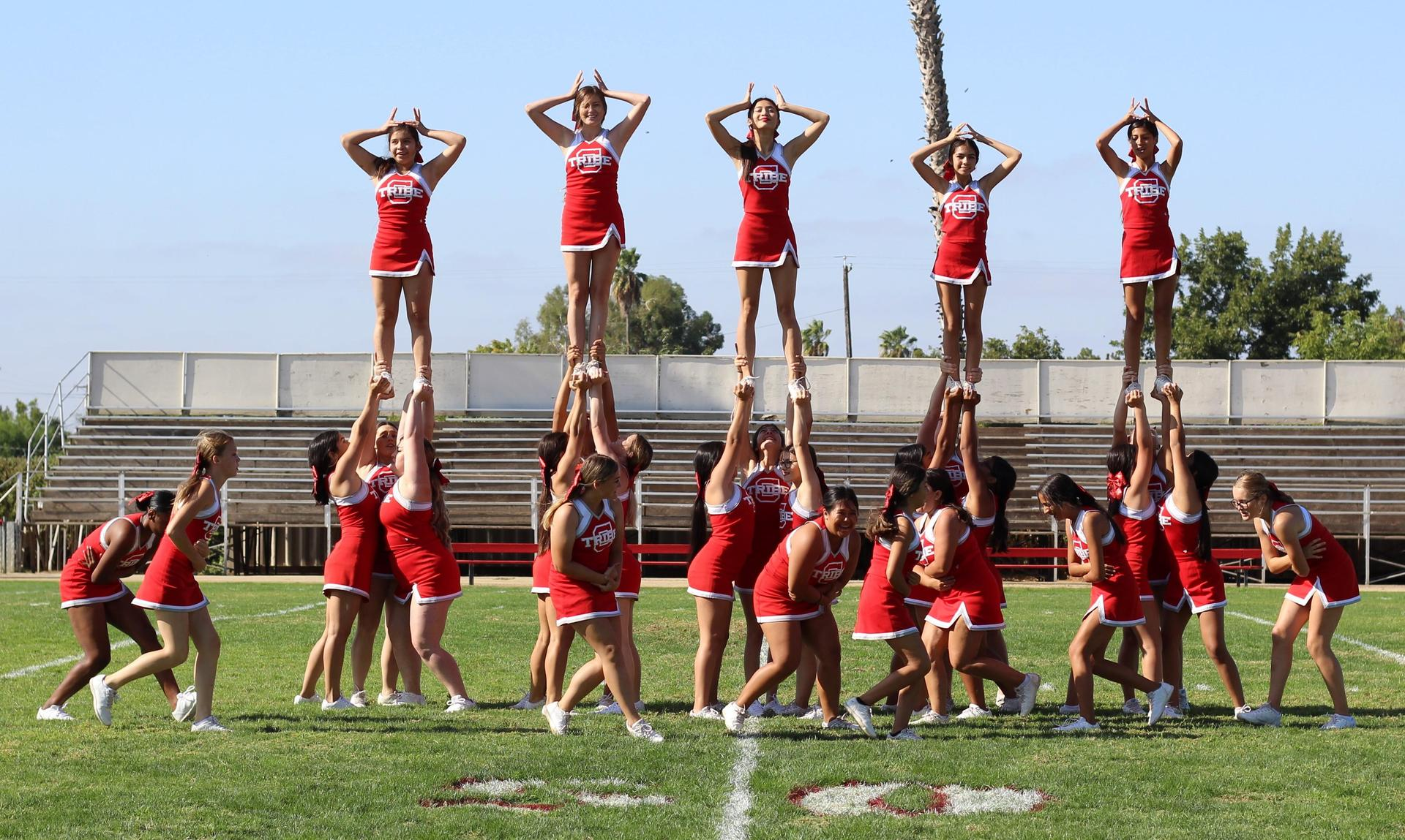 Cheer Preforming at Homecoming Rally