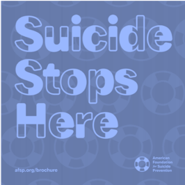 Suicide Stops Here stylized text