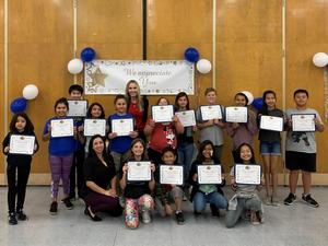 Nutrition Services Recognizes Student Volunteers