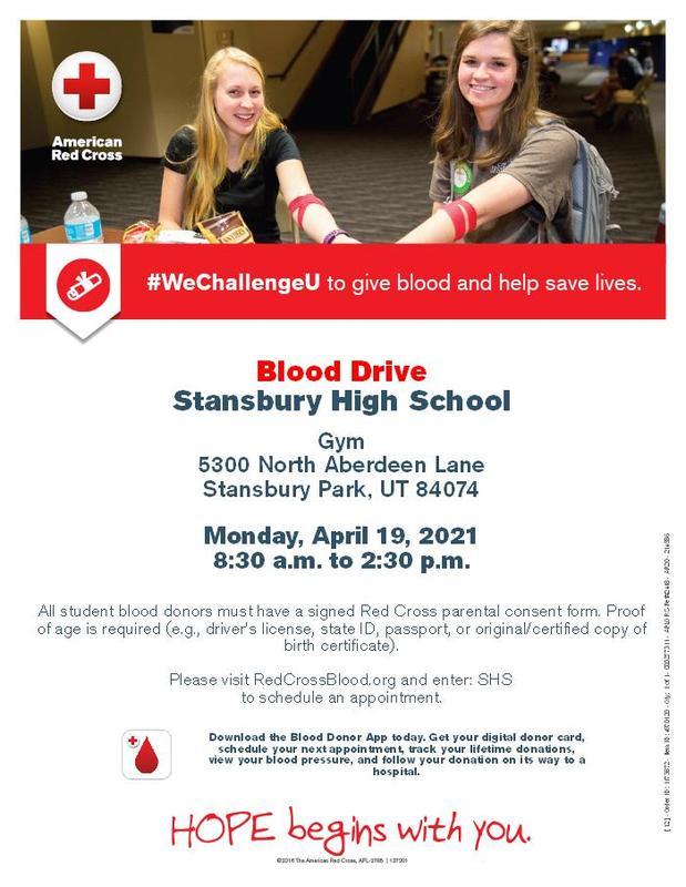 American Red Cross Blood Drive at SHS Thumbnail Image