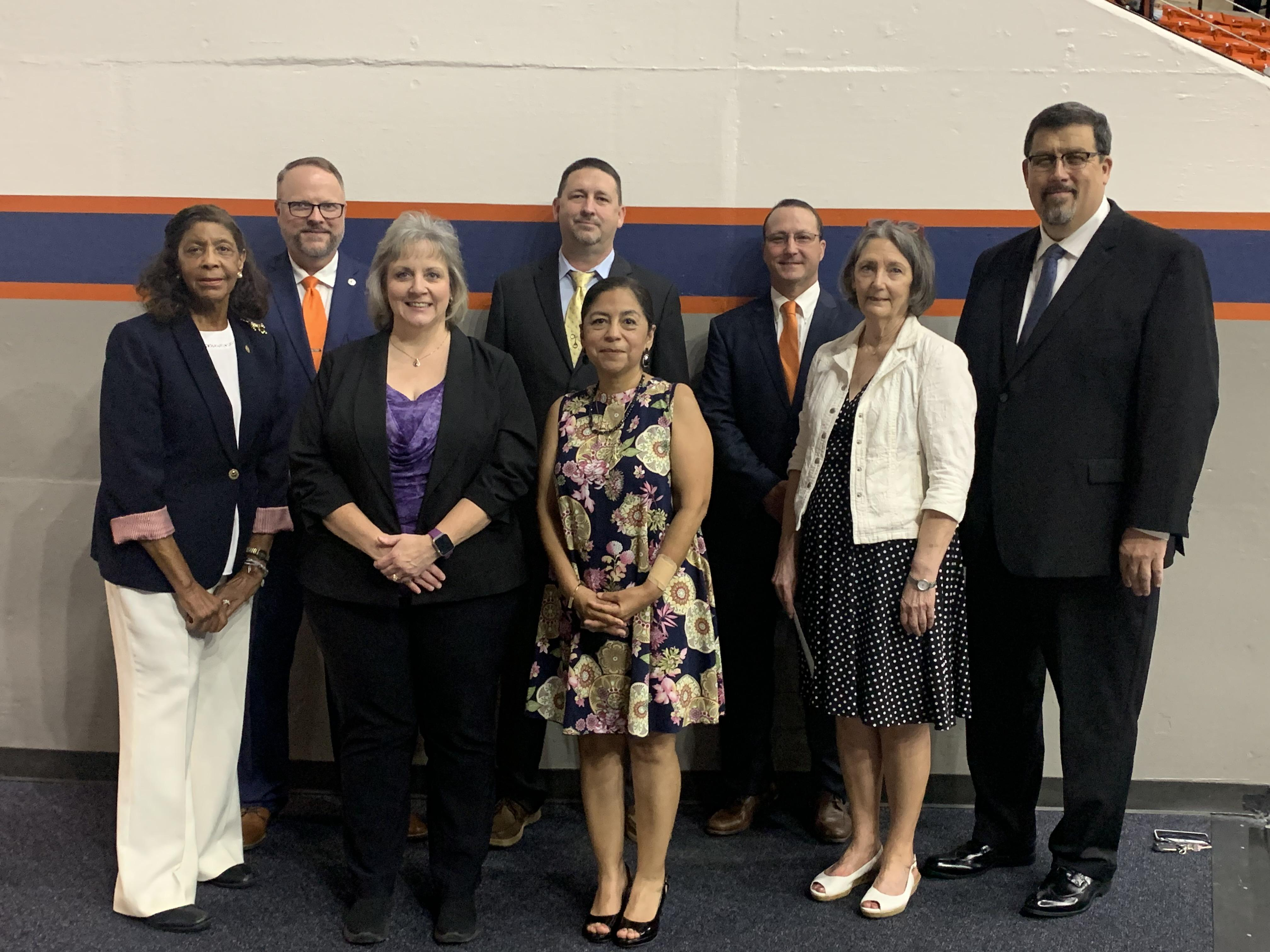 Trinity ISD Board of Trustees and Dr. Kaufman.