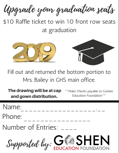 SENIOR FAMILIES: Are you ready to upgrade your graduation seats?