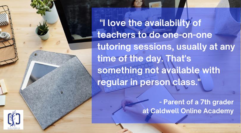 Quote from parent praising COA teachers