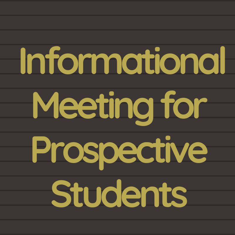 Informational Meeting for Prospective Students Thumbnail Image