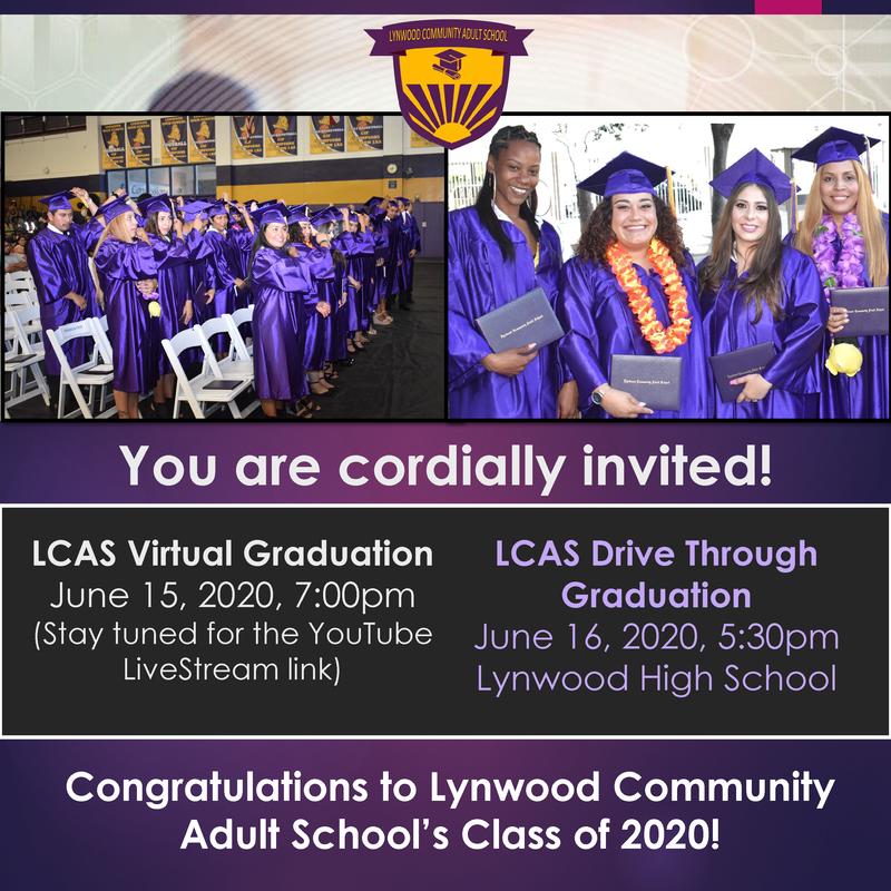LCAS Class of 2020 Graduation Announcement