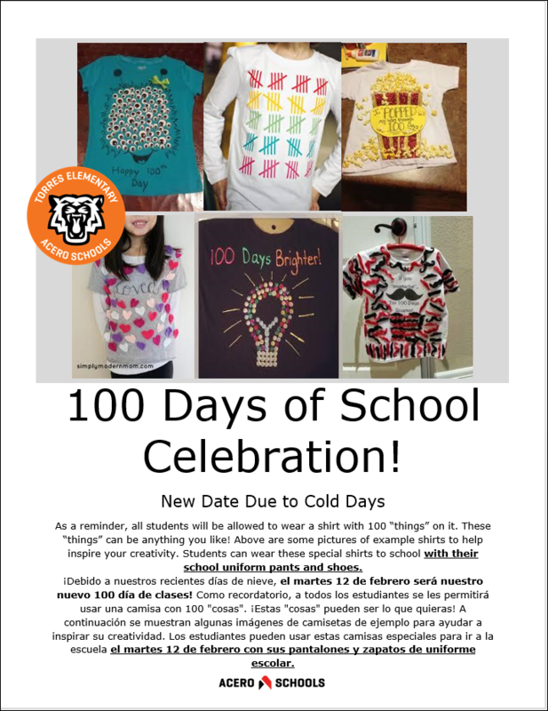 100 Days of School Celebration! Featured Photo