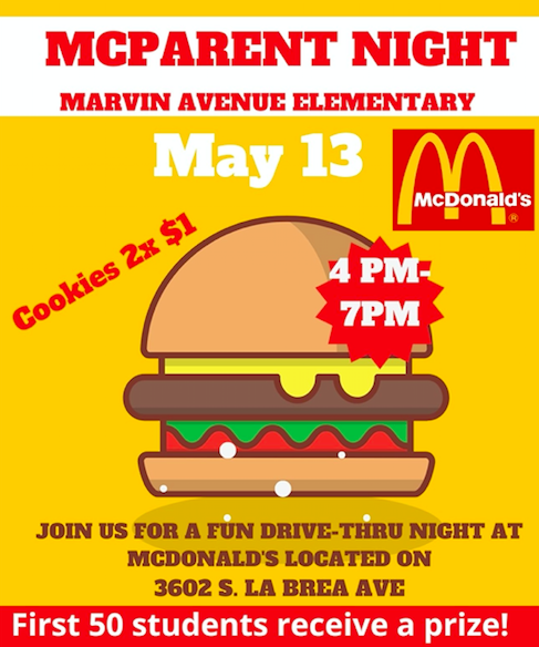 COME JOIN US for McParent Night - May 13 Thumbnail Image