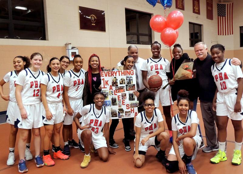 PHA Senior becomes the 1st girl to score 1000 points in her High School basketball career! Featured Photo