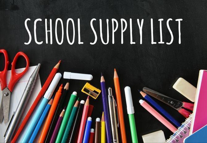 School supply list - JH Featured Photo