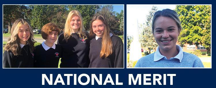 SHA National Merit Recognized Students