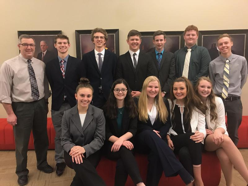 TKHS BPA students competed at the regional contest with nine students advancing in 11 categories to the state competition.