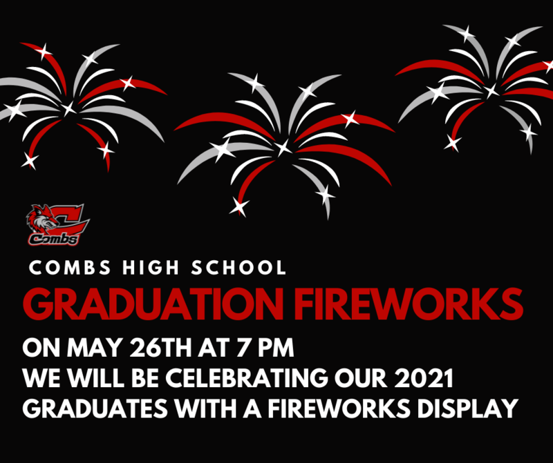 Graduation Fireworks Notice