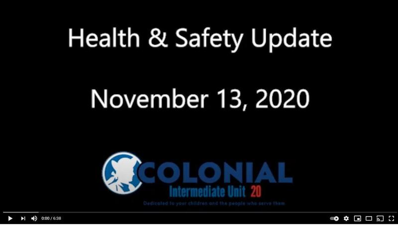 Health and Safety Update - November 13, 2020 Featured Photo