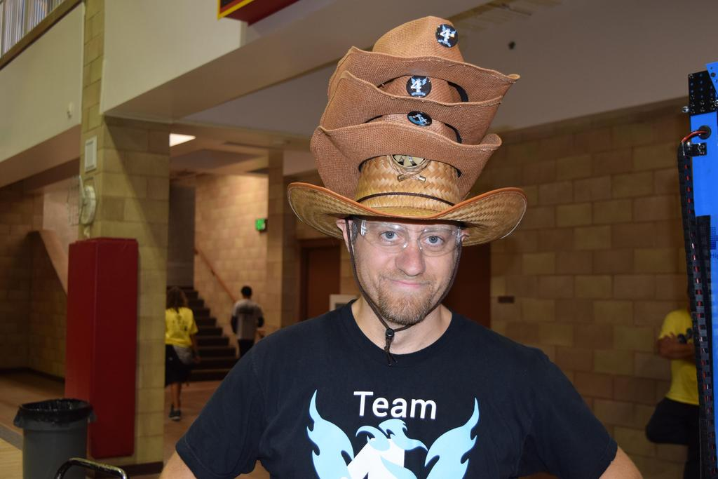 Mr. B with 4 hats