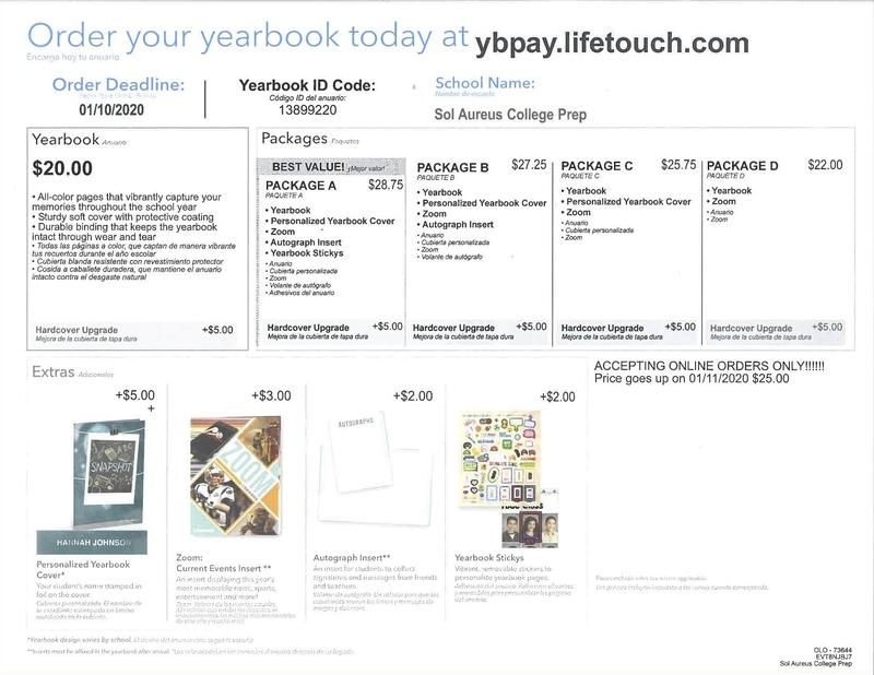 Yearbook Pre-sale for $20 if you order before 1/10/20! Thumbnail Image