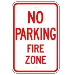 No Parking in the Fire Zone