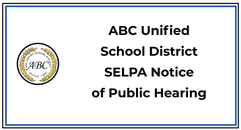 SELPA public hearing notification banner