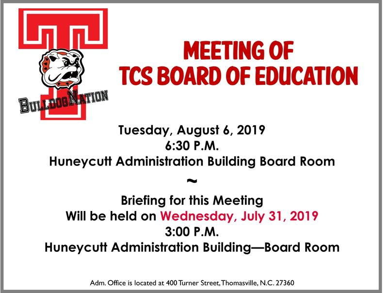 Aug. 6th Board Meeting Notice