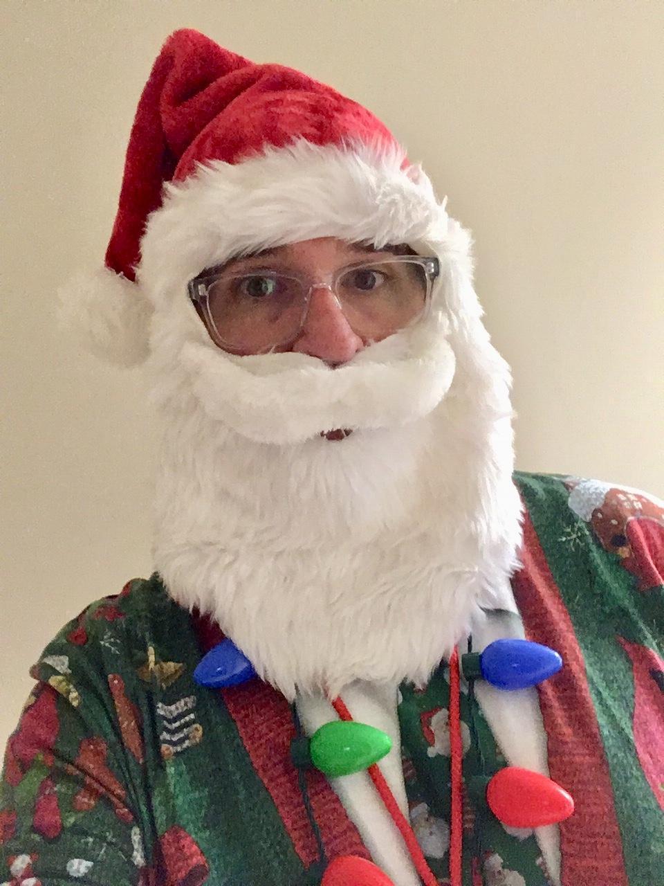 Mr. B. as santa claus