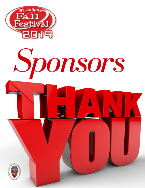 Fall Festival Thank you Sponsors Featured Photo