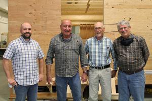 l-r: Brian Heeran, Randy Burns, Dave Dauphin, Chip Woodbury