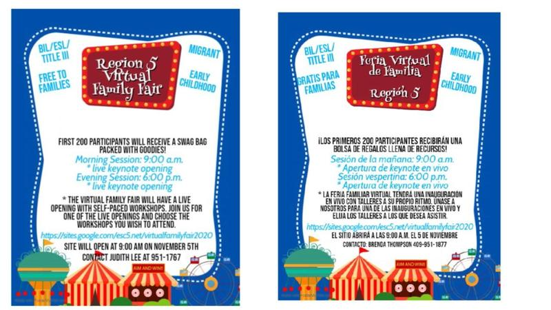 Region 5 Virtual Family Fair