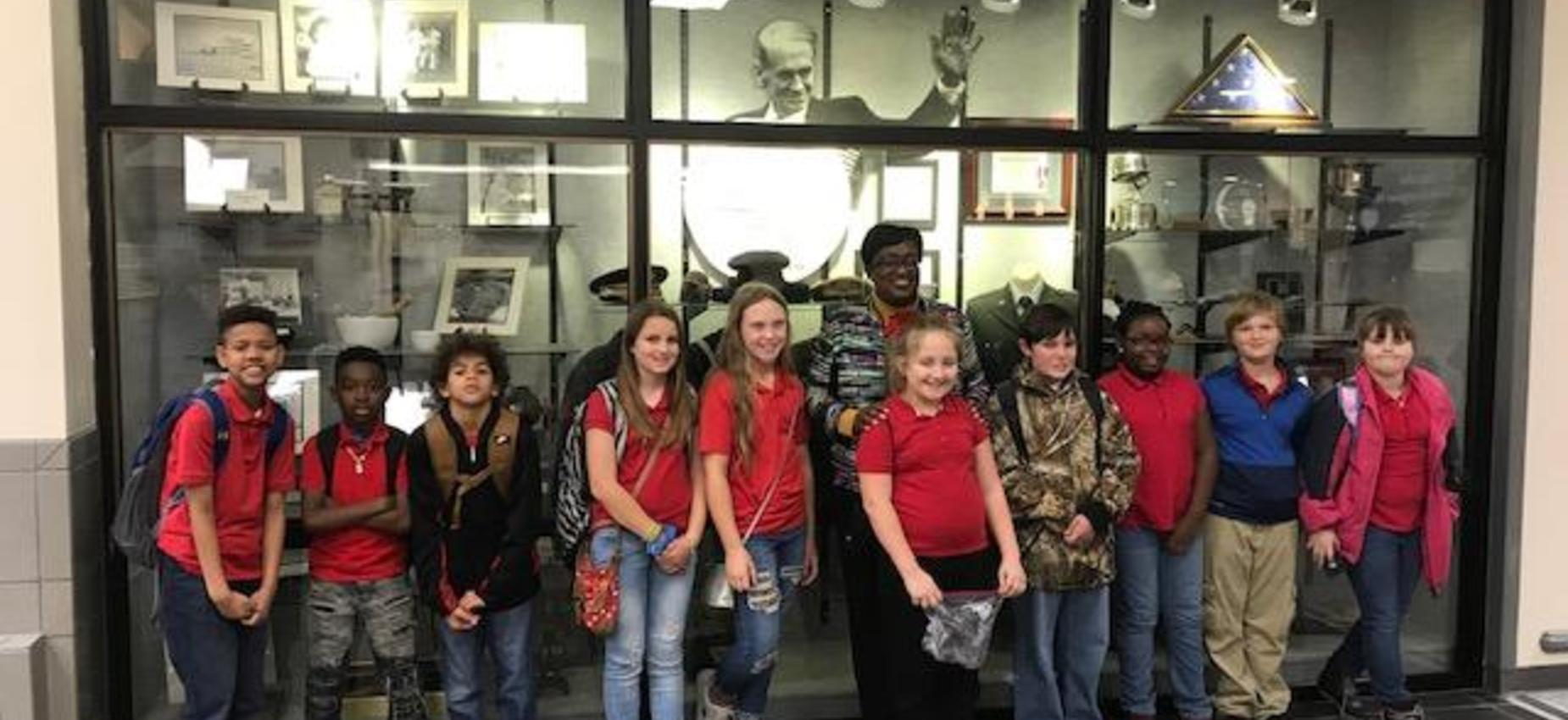 Fourth graders visit the VA Hospital in Jackson, MS