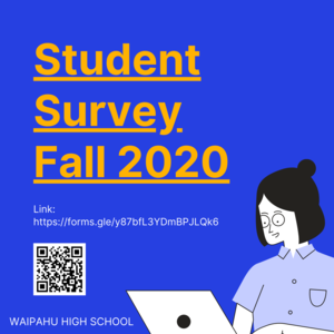 Aloha Marauder Ohana!   Please complete the following survey by July 17, 2020.  You will need to complete the survey for every child you have attending Waipahu High School.