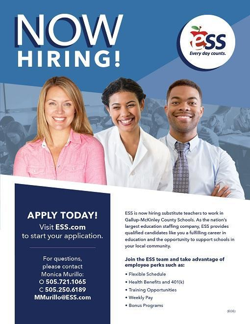 ESS now hiring