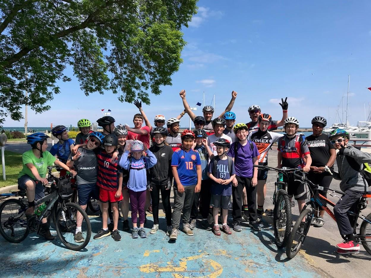 Mountain Biking Group Picture