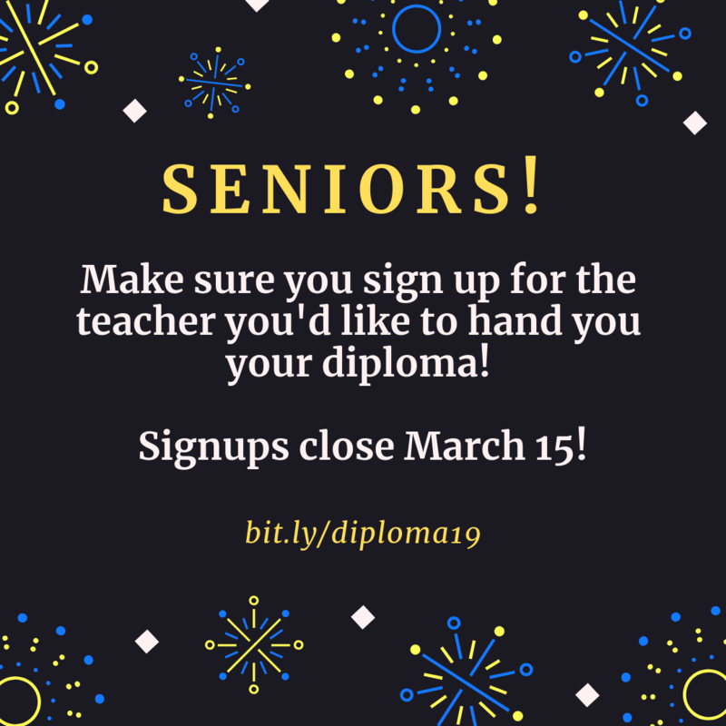 Seniors! Diploma signups are here! Featured Photo