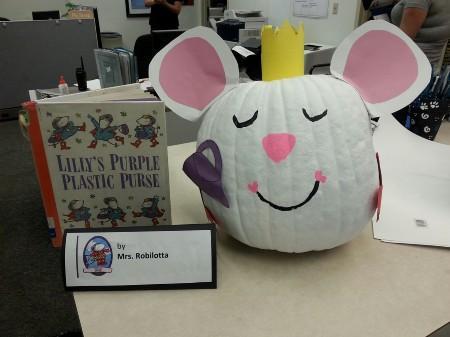 Lilly's Purple Plastic Purse pumpkin