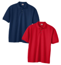 Image of navy & red polos