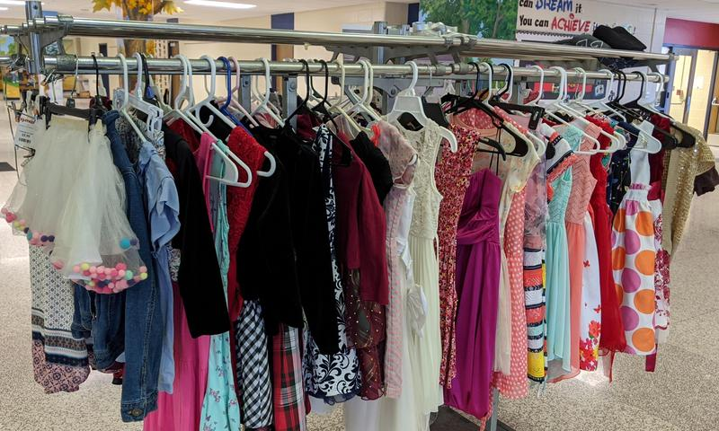 Picture of the dresses hanging