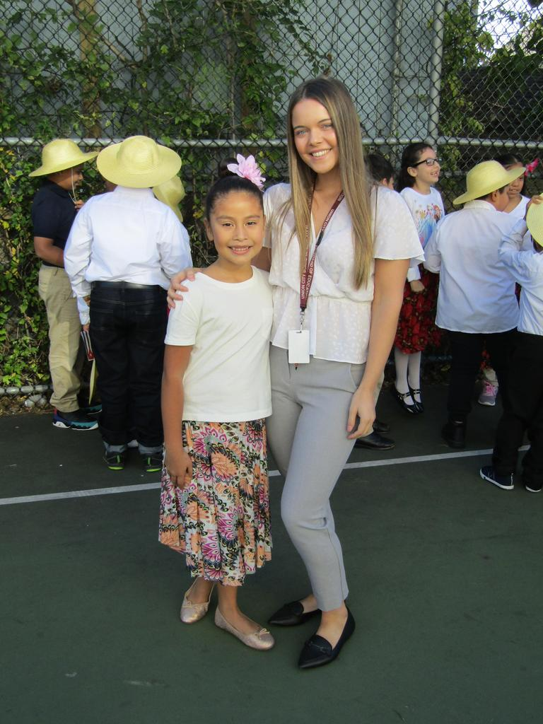 Ms. Carriera and a female student