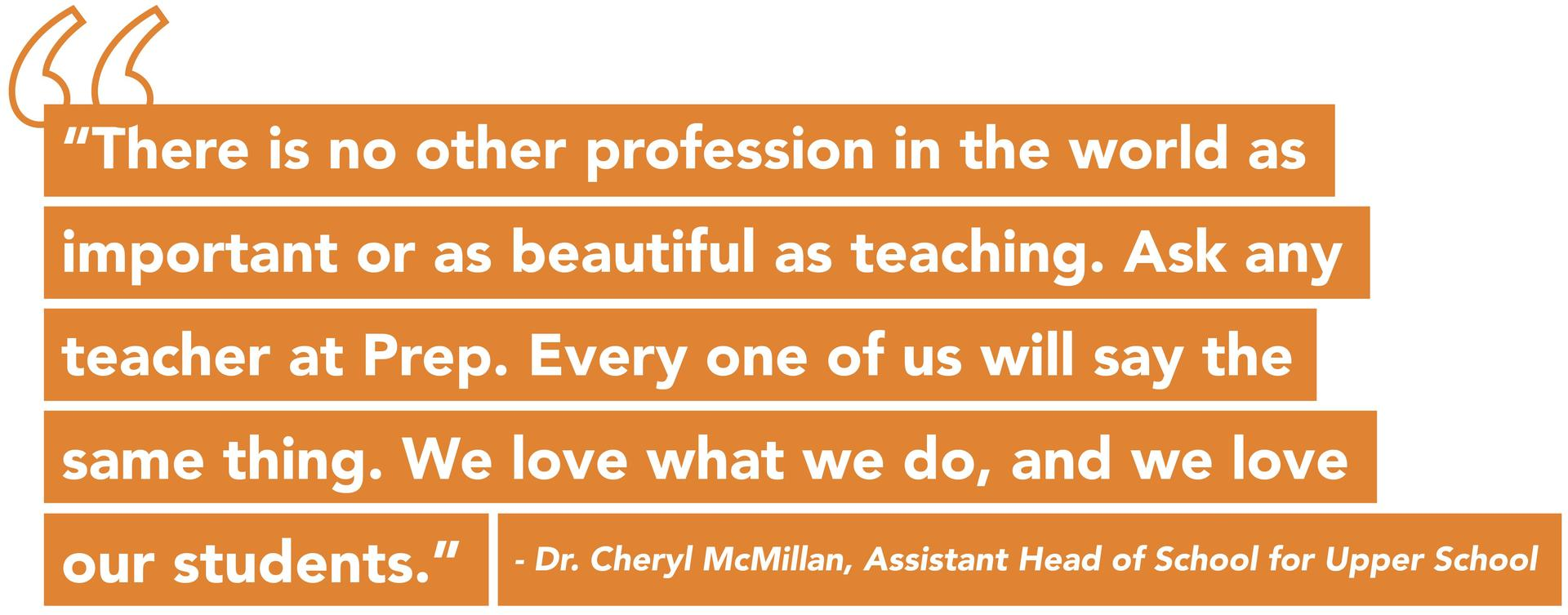 Quote from Dr. Cheryl McMillan