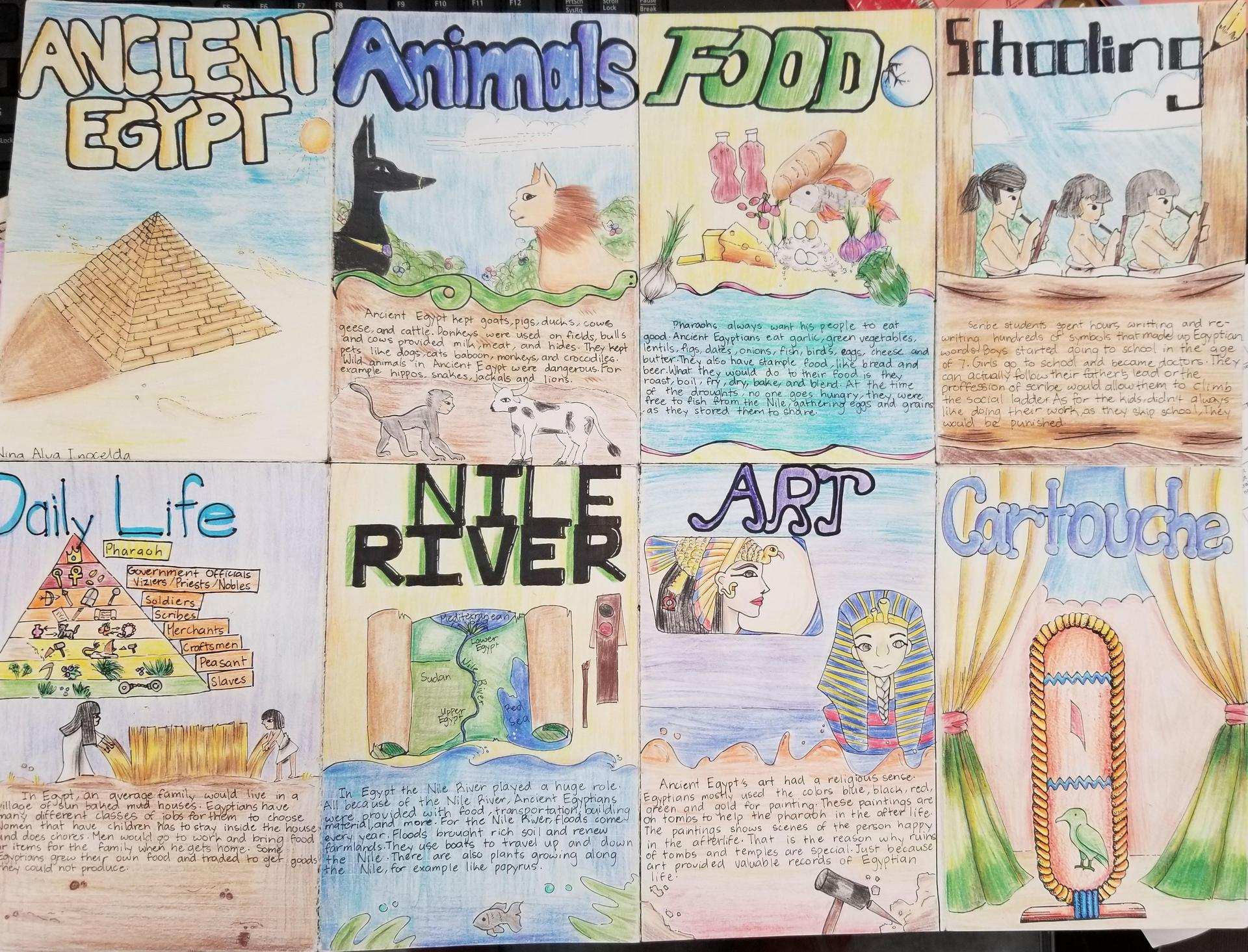 Ancient Egypt Foldable Project