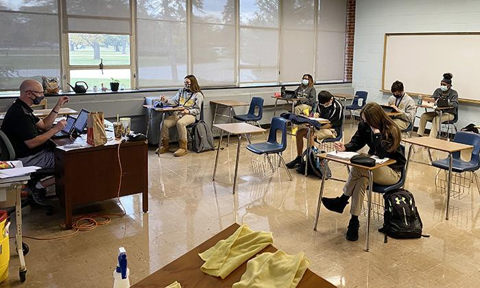 Marian Catholic serves students on campus and virtually Featured Photo